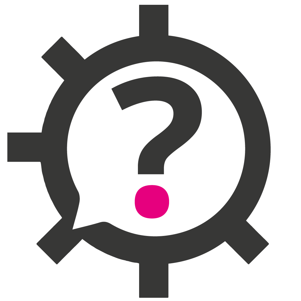 what is marketing automation question mark inside cog