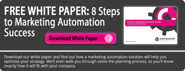 8 steps to marketing automation success white paper email cta grey pink black white