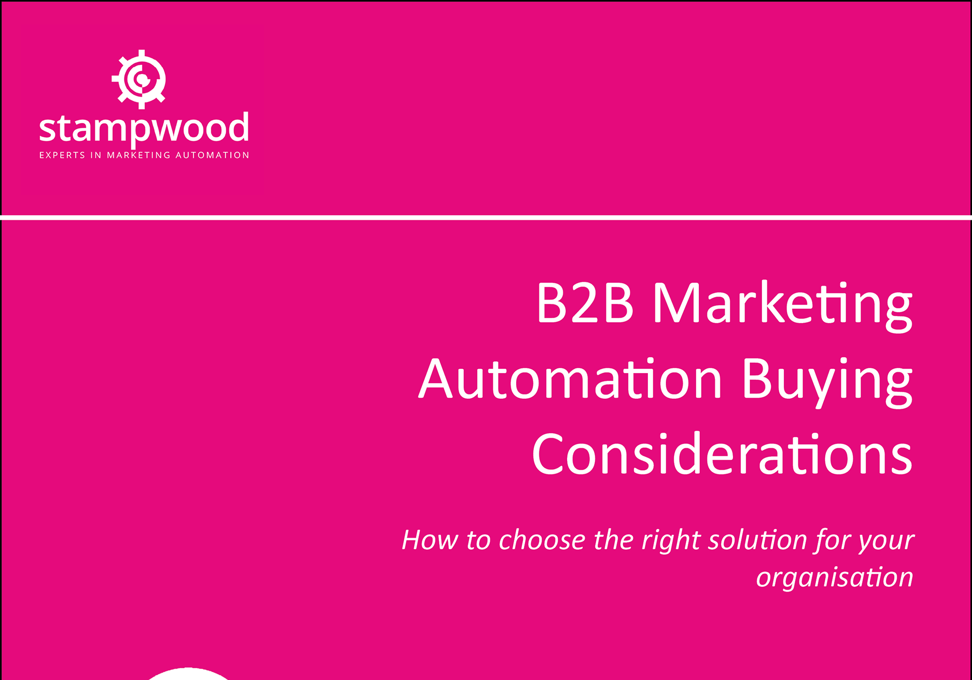 b2b marketing automation buying considerations front page